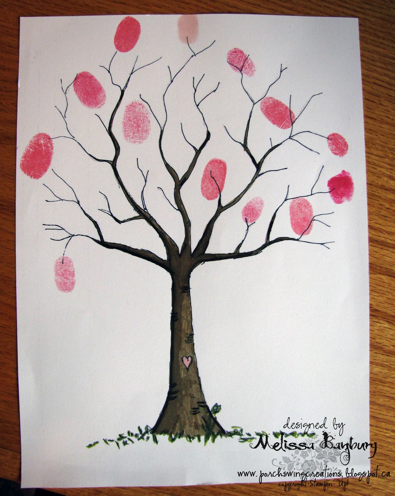 Рисунок дерево своими руками