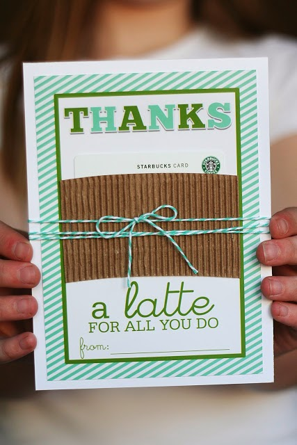 Thanks a Latte printable gift card holder //  WorthingtonLower.com