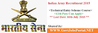 Indian Army Recruitment 2015