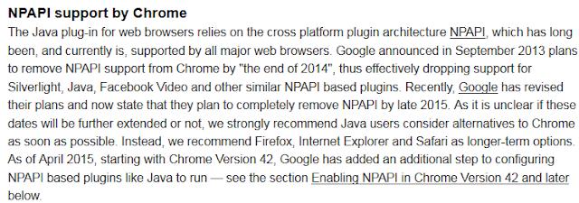 Información web java sobre NPAPI