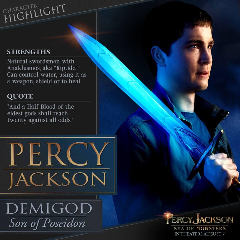 """Ficha de """"Percy Jackson"""" en el Compendio del Mar de los Monstruos"""