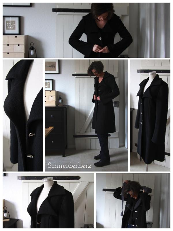 schneiderherz schwarz ist eine farbe kurzmantel aus wollwalk. Black Bedroom Furniture Sets. Home Design Ideas