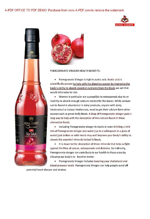 Pomegranate Vinegar Benefit