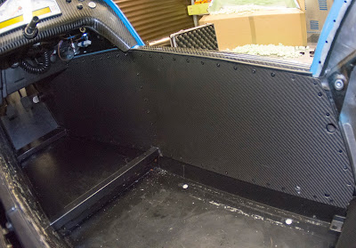 Drivers panel fitted and riveted into place
