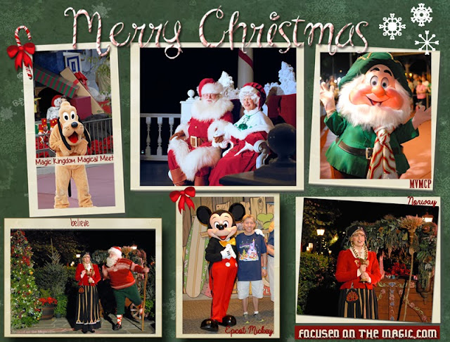 Disney World Holiday Character Encounters