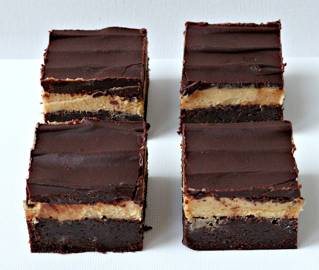 Milk and Honey: Triple Decker Peanut Butter Brownies