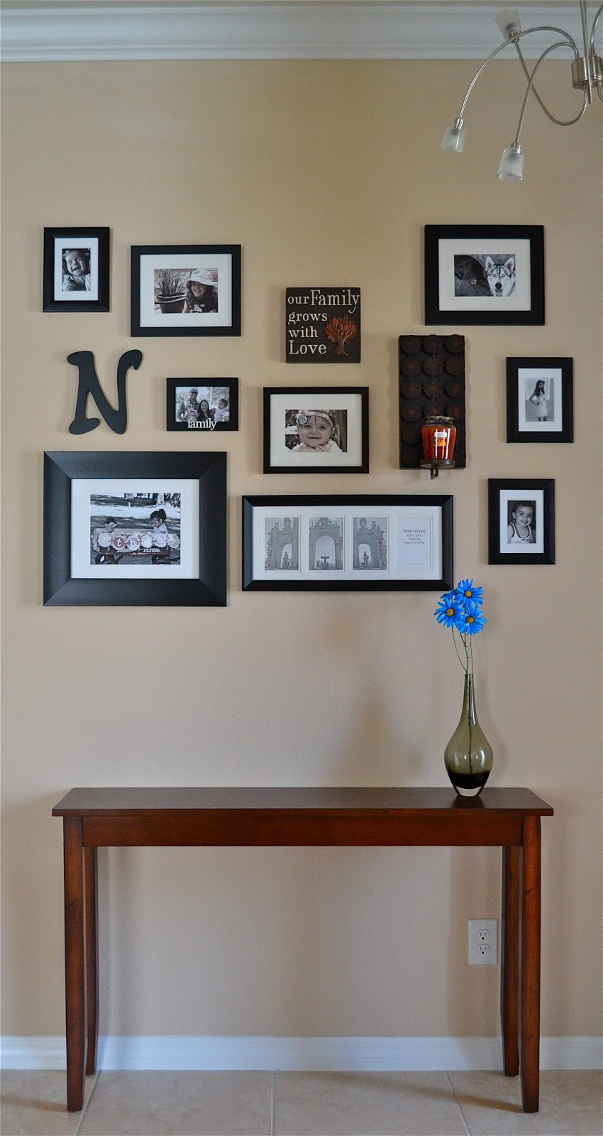 Our happy casita entryway frame wall for Bedroom wall frames