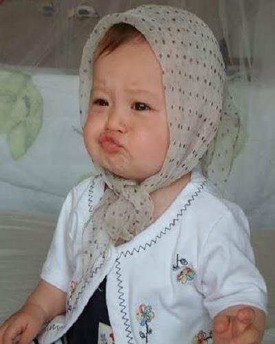 Photo bébé mignon voilée