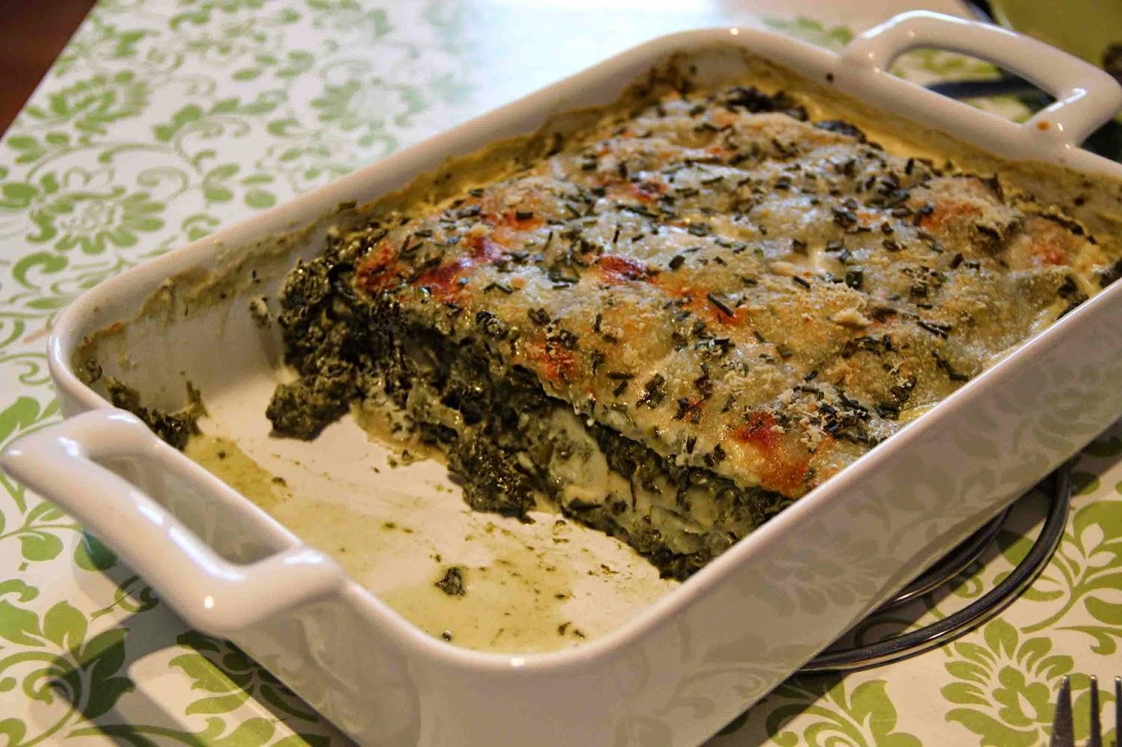 Gratin de ravioles aux épinards
