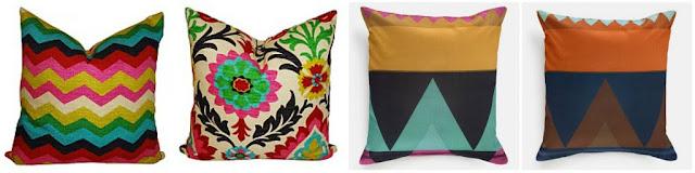 Multi Colored Pillows