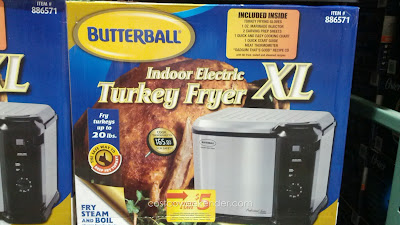 Butterball 23013514 Indoor Electric Turkey Fryer – Fry, steam or boil you favorite foods
