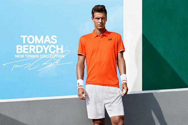 colección de ropa de tenis Tomas Berdych para H&M verano 2015