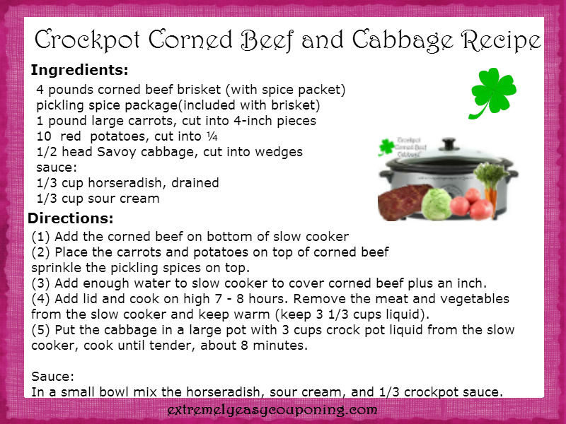 Extremely easy couponing crockpot corned beef and cabbage recipe