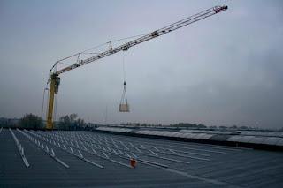 Crane Loading PV Panels