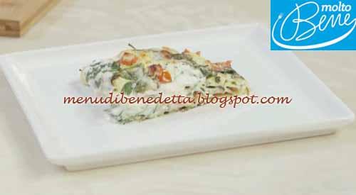 Lasagne crudaiola ricetta Parodi per Molto Bene su Real Time