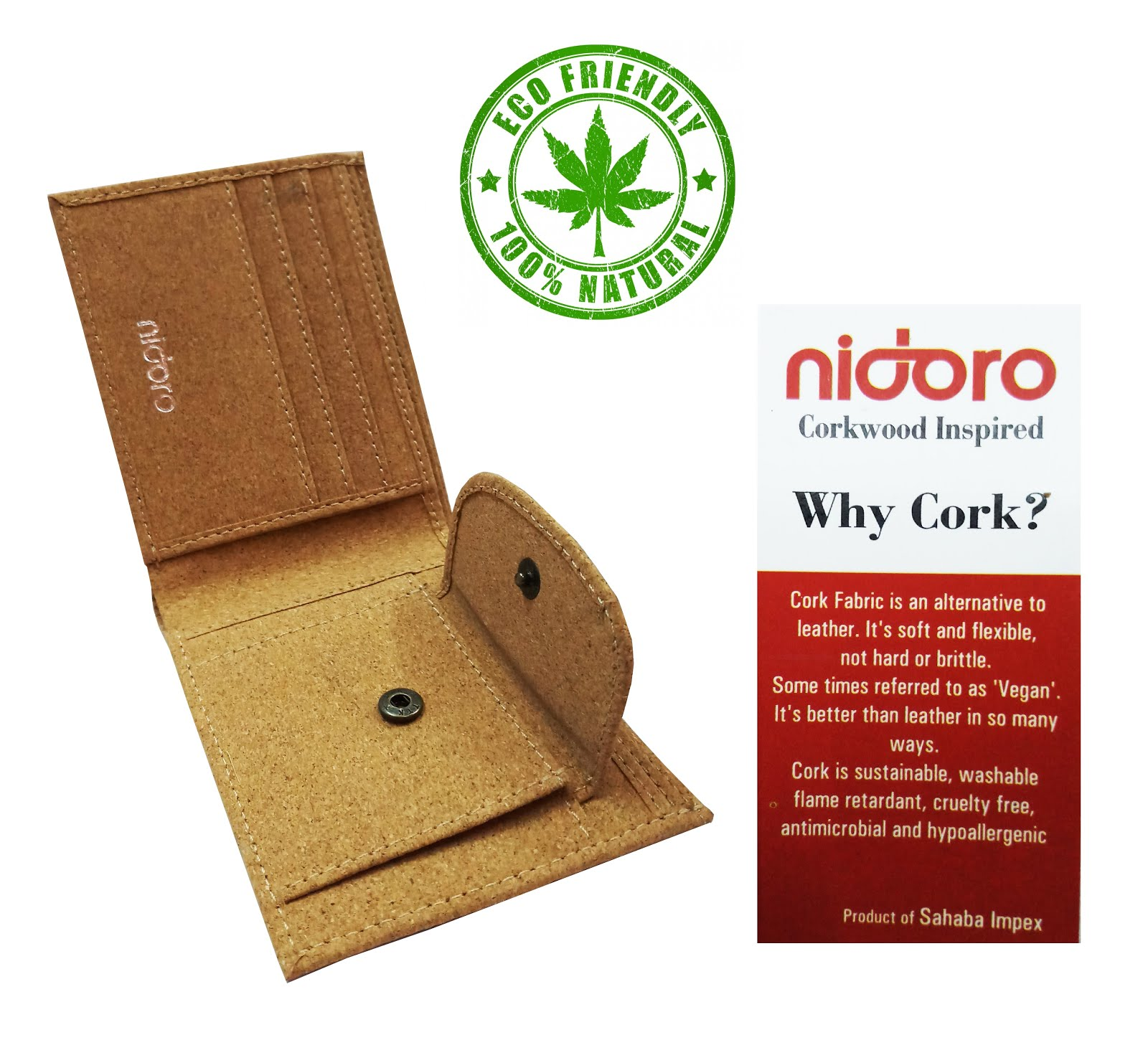 Nidoro Cork Wallet