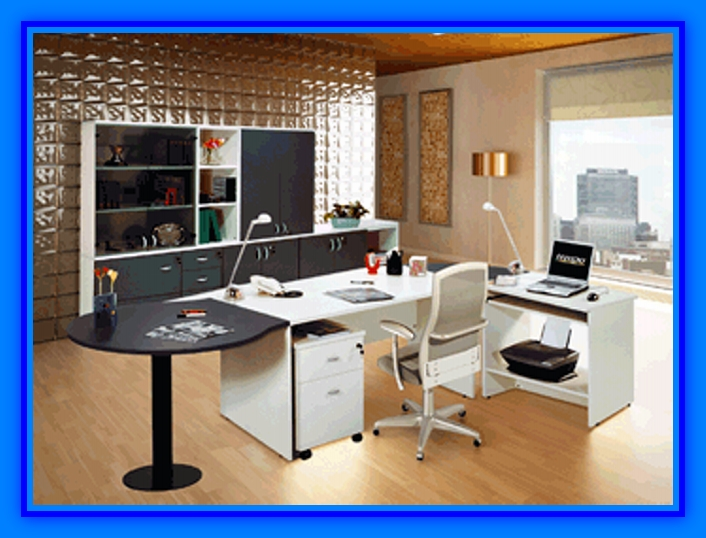 Muebles de oficina con tablero melamina web del for Muebles de oficina modernos precios