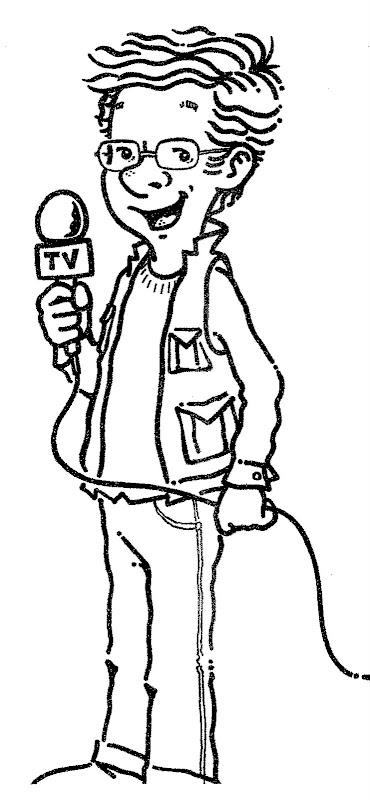desenhos de reporter para colorir