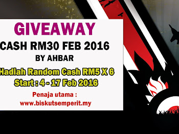 GIVEAWAY CASH RM30 FEB 2016 BY AHBAR
