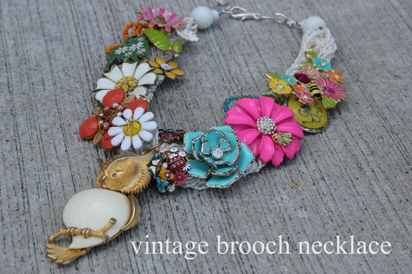 Diy Vintage Brooch Necklace