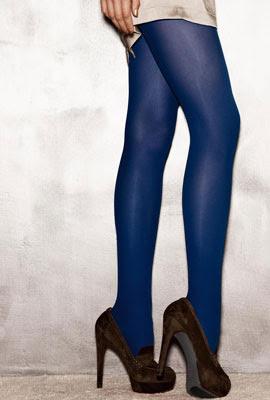medias color azul Calzedonia 2012 2013