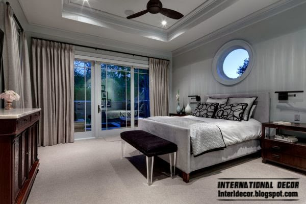 traditional bedroom in fashionable shades, Fashion color trends 2014