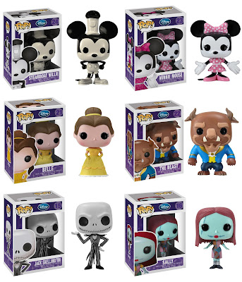 Disney Pop! Vinyl Figures Wave 2 - Steamboat Willie, Minnie Mouse, Belle, Beast, Jack Skellington &amp; Sally