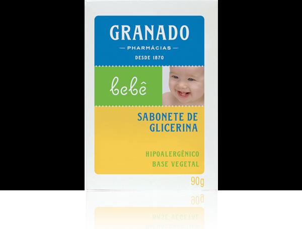 Aqui tem a foto de um sabonete de Glicerina Granado - Bebê