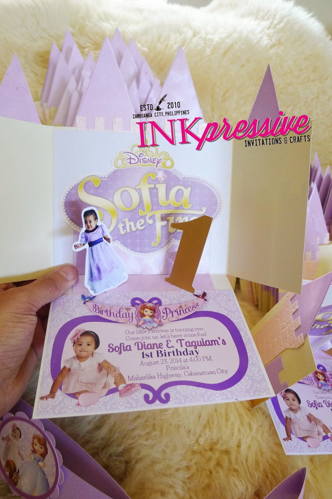 Princess Castle + Sofia + Medieval Castle | KIDDIE INVITATIONS