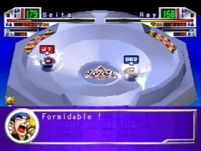 gameplay beyblade ps1