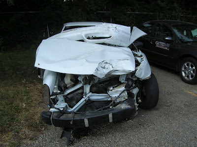 Oldsmobile Alero after brutal car accident