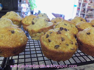 Banana Chip Muffins by Jay Tried and True
