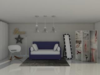 Dise�o y amueblamiento de Dormitorio Juvenil al estilo N�rdico.