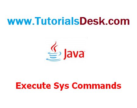 Program to execute system commands in a Java