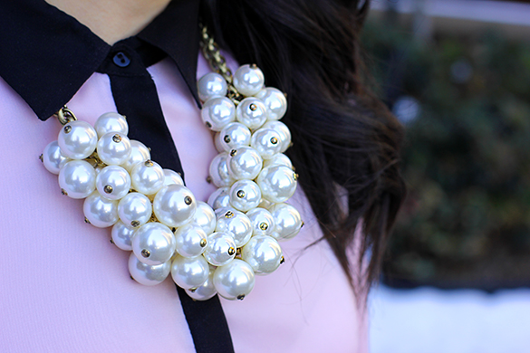 Zara Pearl Bauble Necklace
