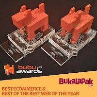 Penghargaan bukalapak kategori perusahaan e-commerce dari Best of The Best Bubu Awards v.09