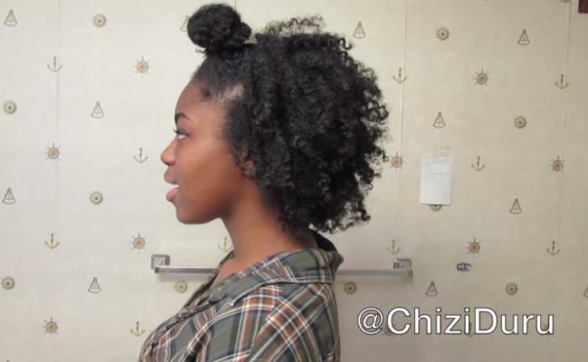 4c Natural Hair Styles Ninja Bun Braid Out Curlynikki Natural