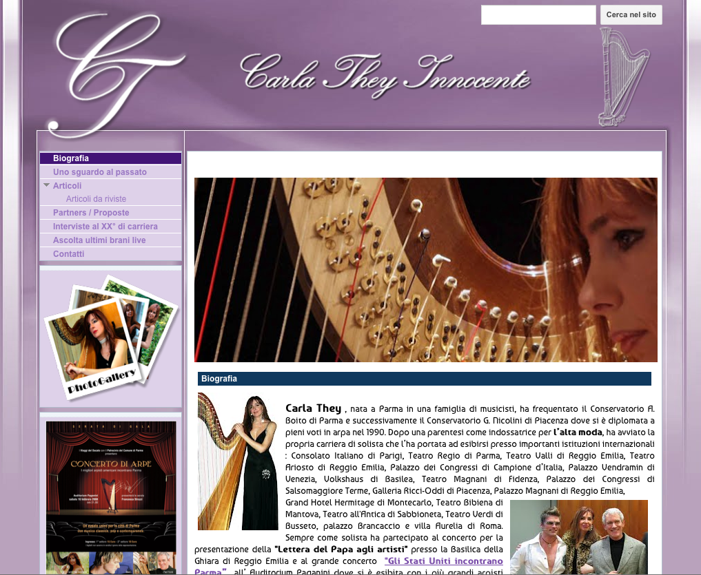Pramzanblog i siti web dei parmigiani famosi 1 carla they for Siti architetti famosi