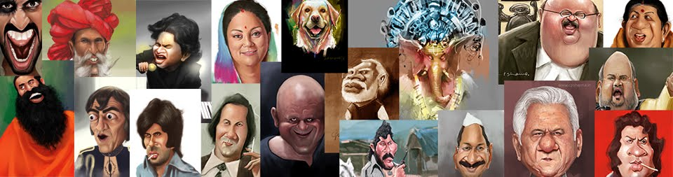 Indian Digital portrait painting and caricature illustration artist CP Sharma