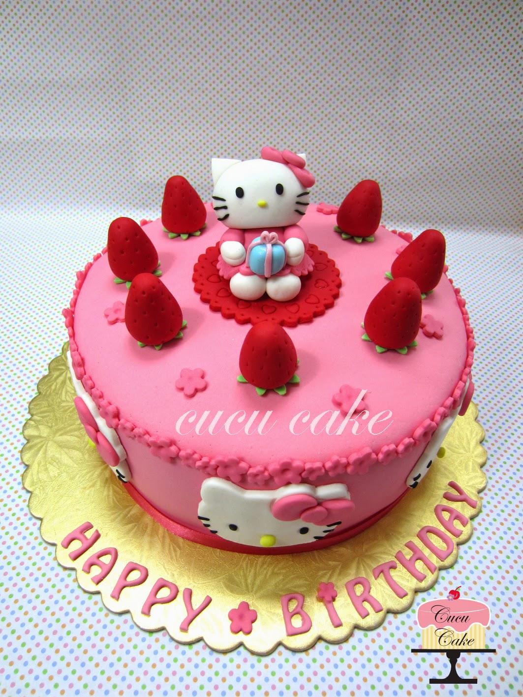 Cake Hello Kitty Pink : Hello Kitty Pink Cake Cucu Cake