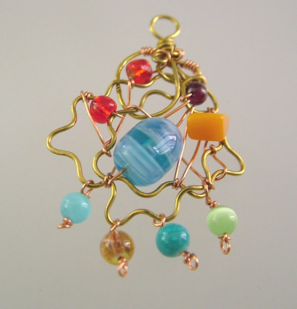 Freeform Wire Wrap Christmas Ornament