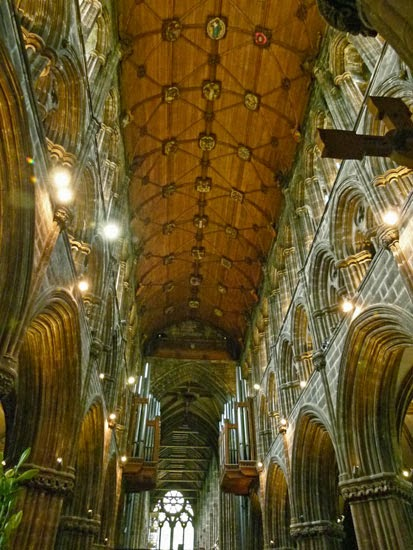 Glasgow Cathedral, choir, quire, nave, ceiling, Scotland