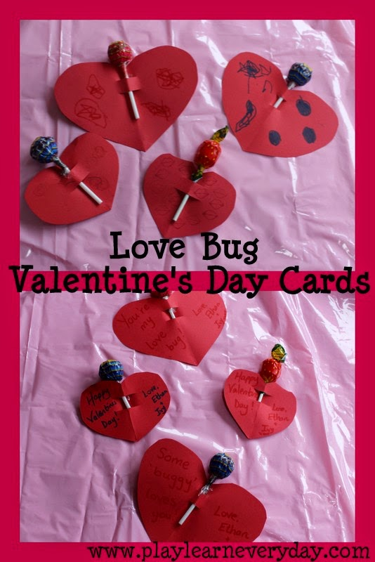 Love Bug Valentine S Day Cards Play And Learn Every Day