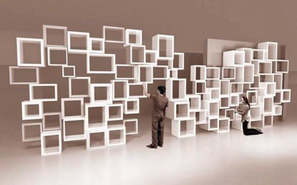 Modern Parametric Bookshelves Design