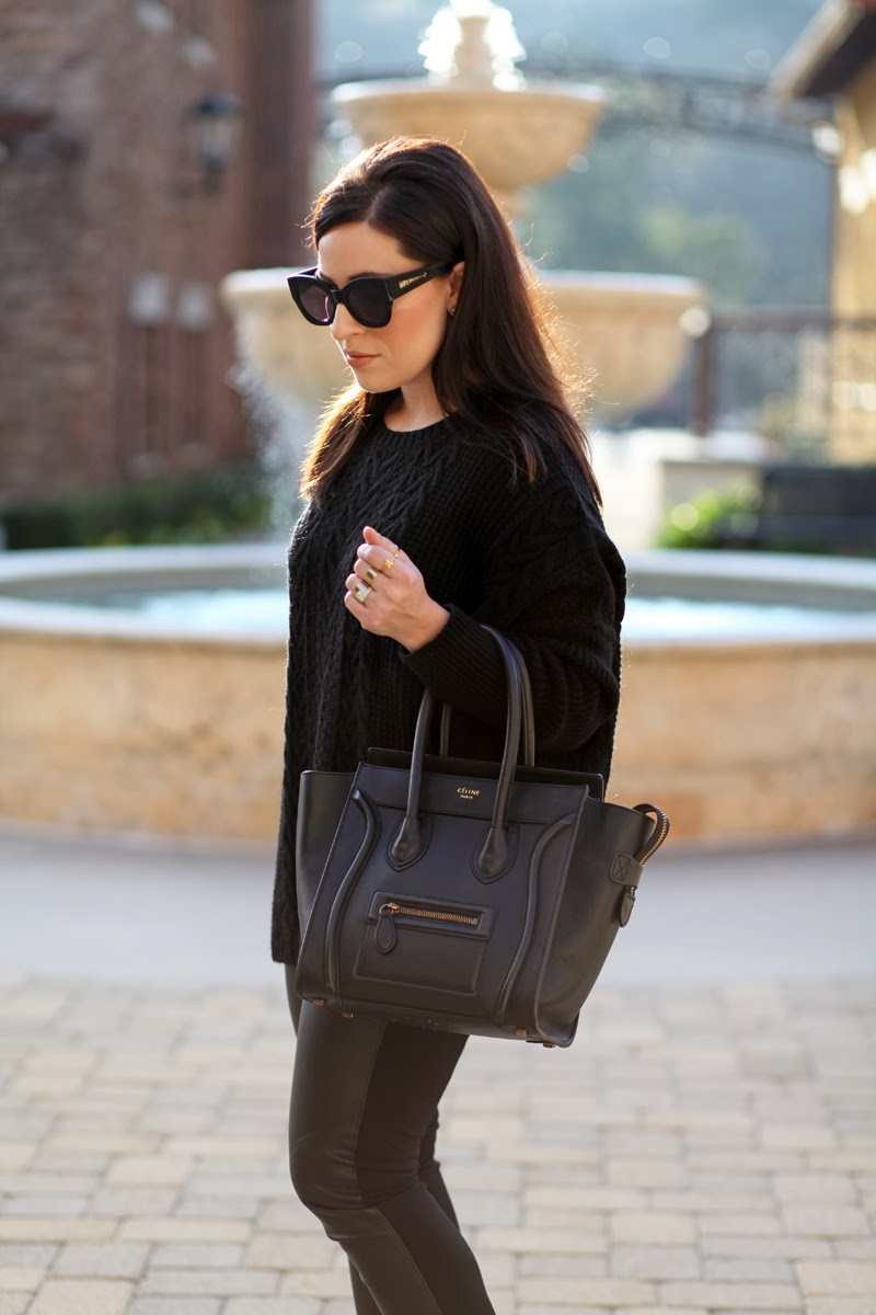 all-black-outfit-ideas-oversized-black-sweater-faux-leather-leggings-olsen-twin-outfit-ideas-celine-mini-tote-karen-walker-sunglasses-king-and-kind-fashion-blog