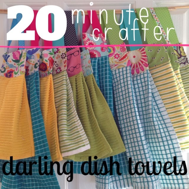 Little Bit Funky: 20 Minute Crafter {modern Dish Towels