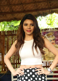 Sherlyn Chopra in a tight half whtie top at Stylish Diva meet Hyderabad