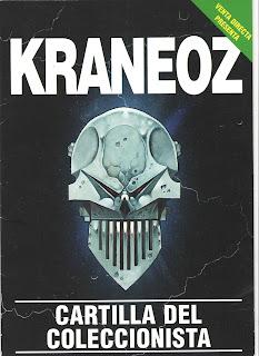 Cartilla del Coleccionista de Kraneoz