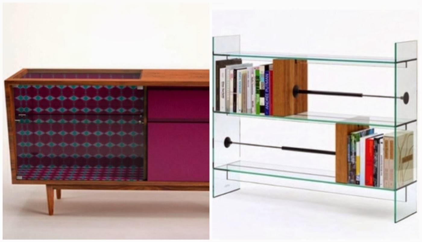 aparador @casadachris e estante de livros @mercadoartedesign
