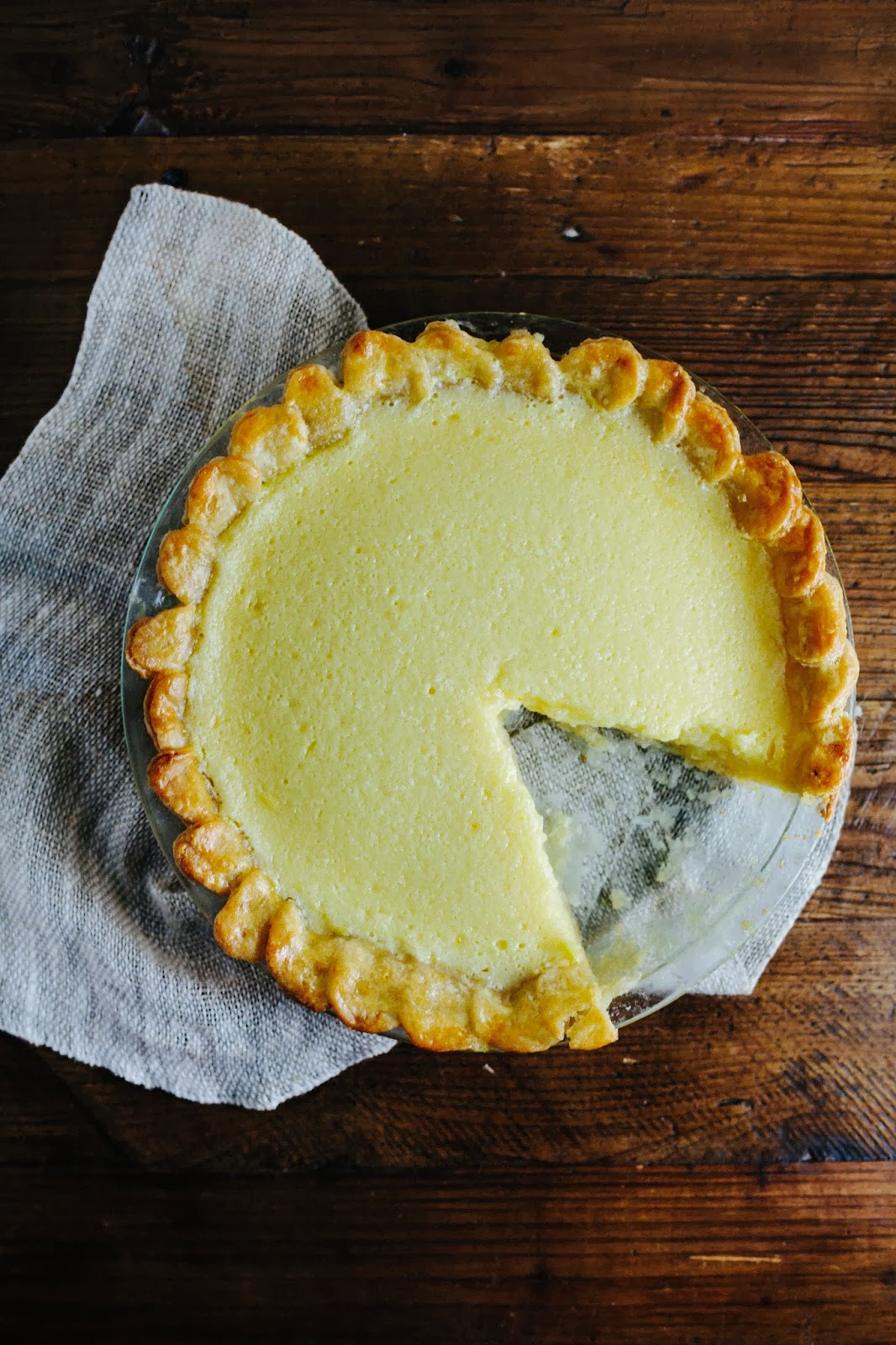 Meyer Lemon Chess Pie | hummingbird high || a desserts and baking blog